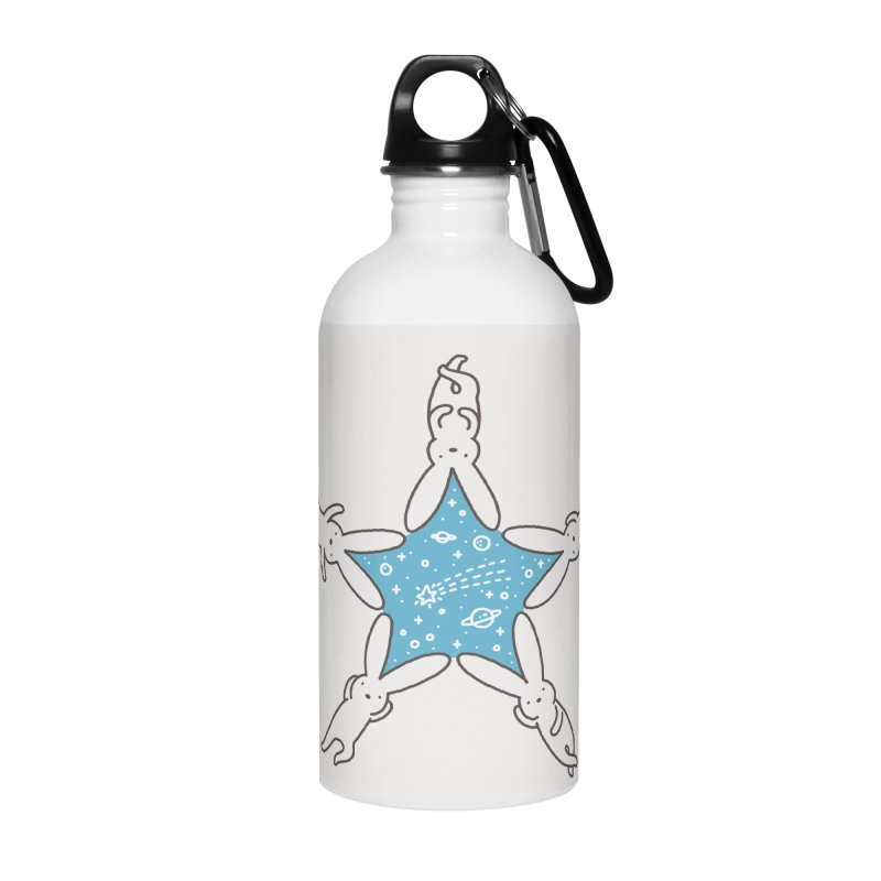 Rabbit Star Accessories Water Bottle by ilovedoodle's Artist Shop
