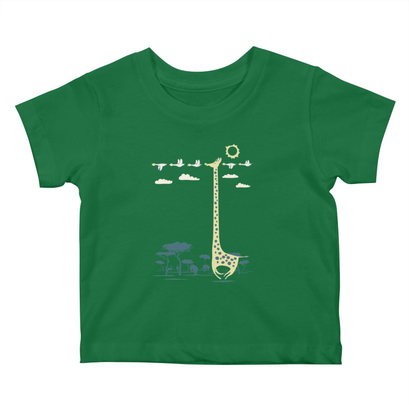 I'm like a bird (blue) Kids Baby T-Shirt by ilovedoodle's Artist Shop