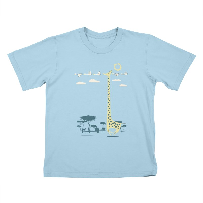 I'm like a bird (blue) Kids T-Shirt by ilovedoodle's Artist Shop