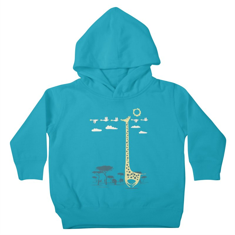 I'm like a bird (blue) Kids Toddler Pullover Hoody by ilovedoodle's Artist Shop