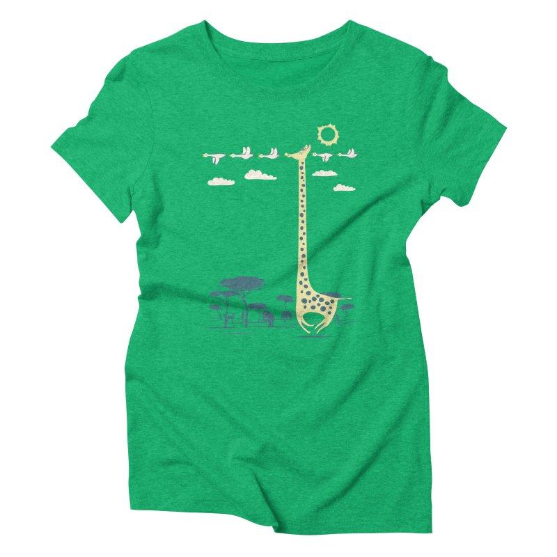 I'm like a bird (blue) Women's Triblend T-Shirt by ilovedoodle's Artist Shop