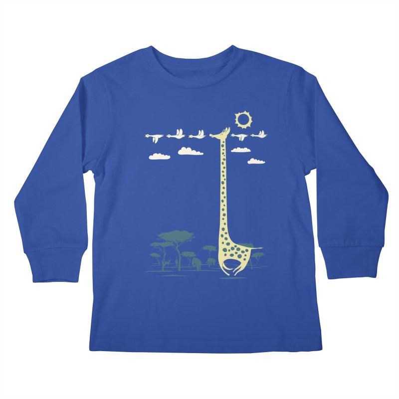 I'm like a bird (blue) Kids Longsleeve T-Shirt by ilovedoodle's Artist Shop