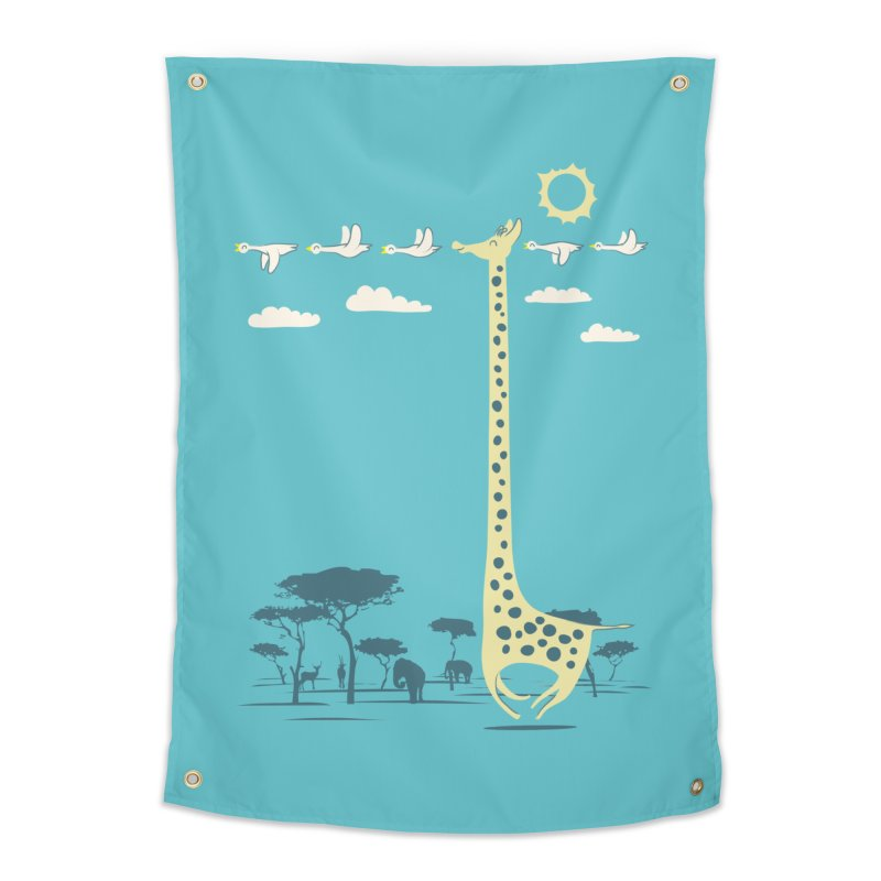 I'm like a bird (blue) Home Tapestry by ilovedoodle's Artist Shop