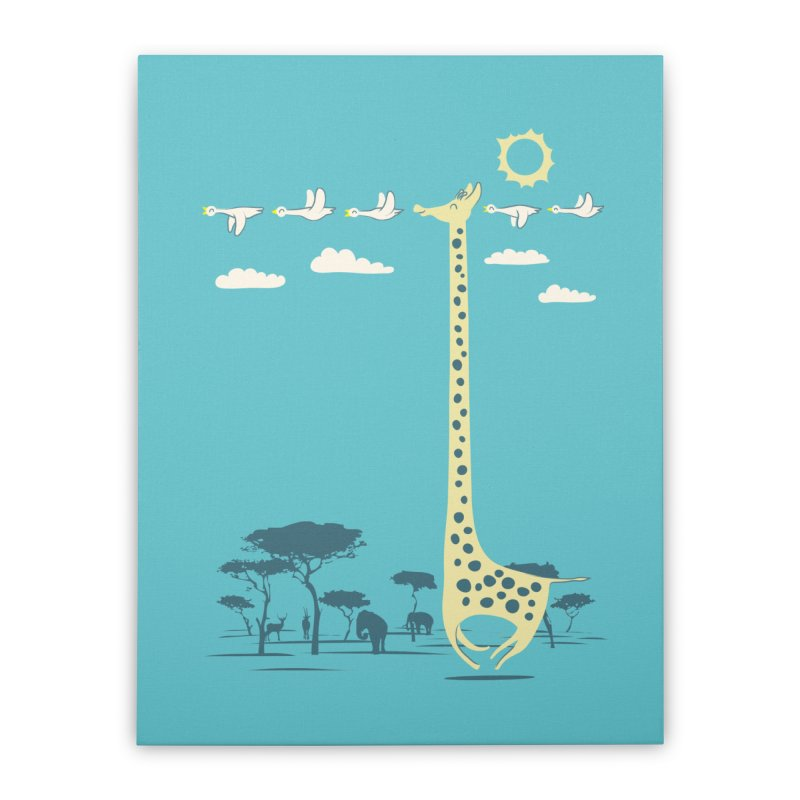 I'm like a bird (blue) Home Stretched Canvas by ilovedoodle's Artist Shop