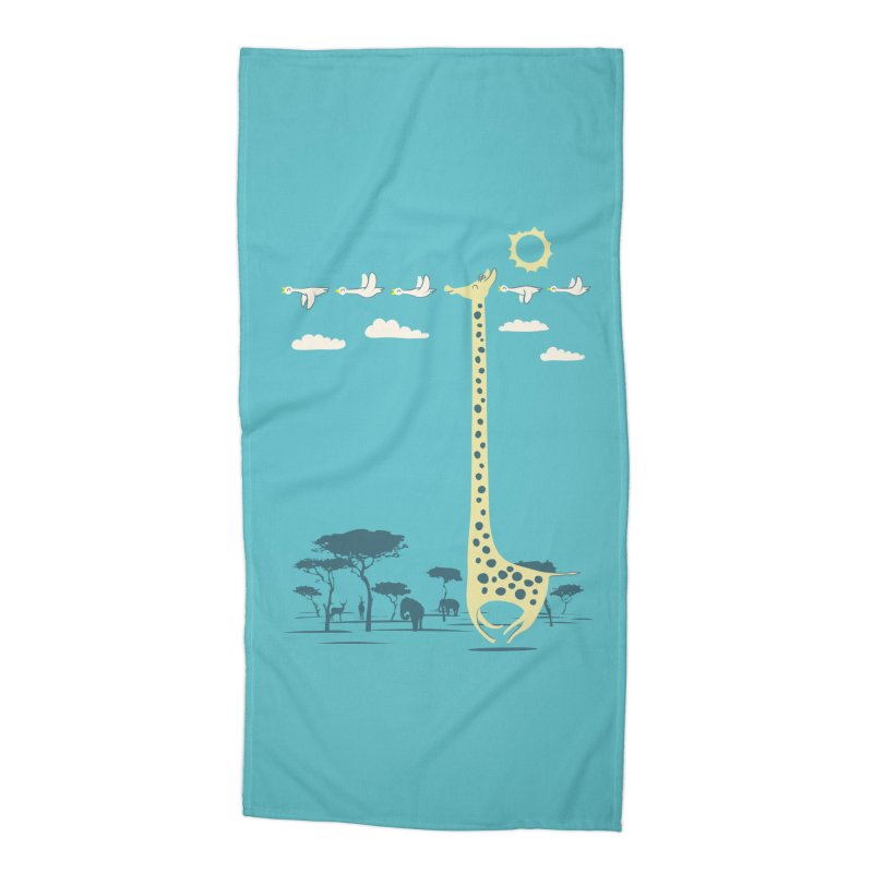 I'm like a bird (blue) Accessories Beach Towel by ilovedoodle's Artist Shop