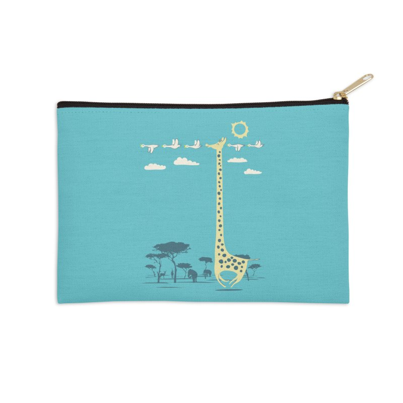 I'm like a bird (blue) Accessories Zip Pouch by ilovedoodle's Artist Shop