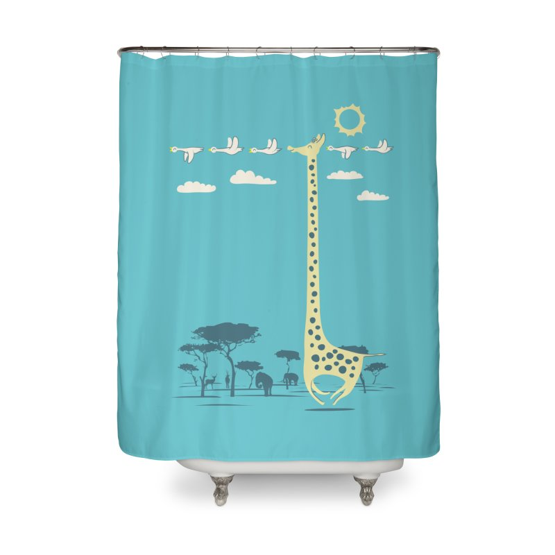 I'm like a bird (blue) Home Shower Curtain by ilovedoodle's Artist Shop