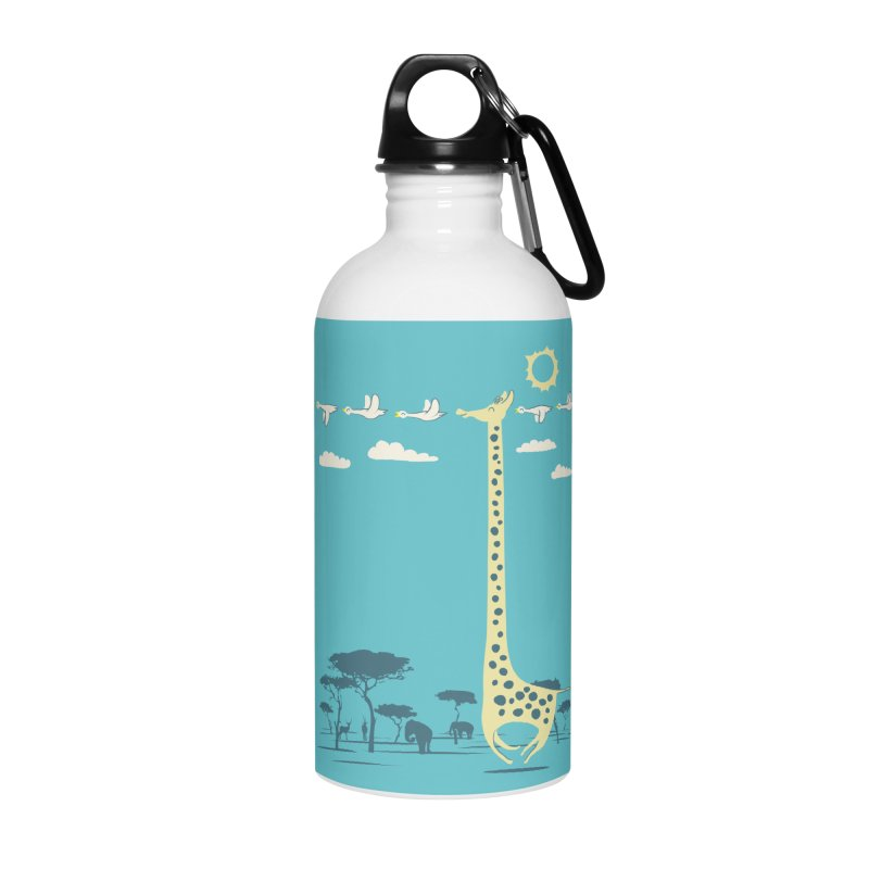 I'm like a bird (blue) Accessories Water Bottle by ilovedoodle's Artist Shop