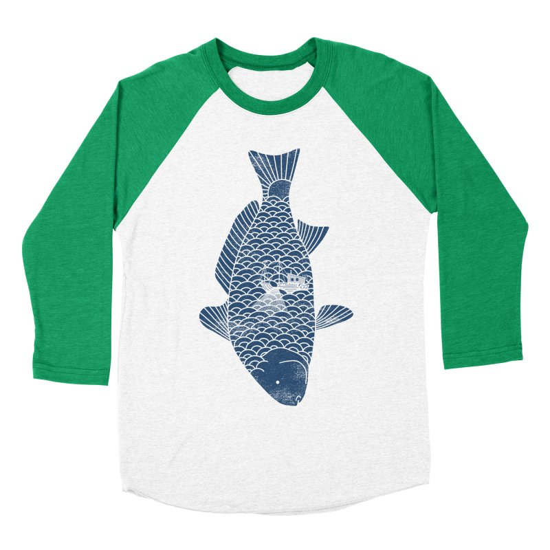 Fishing in a fish Men's Baseball Triblend T-Shirt by ilovedoodle's Artist Shop