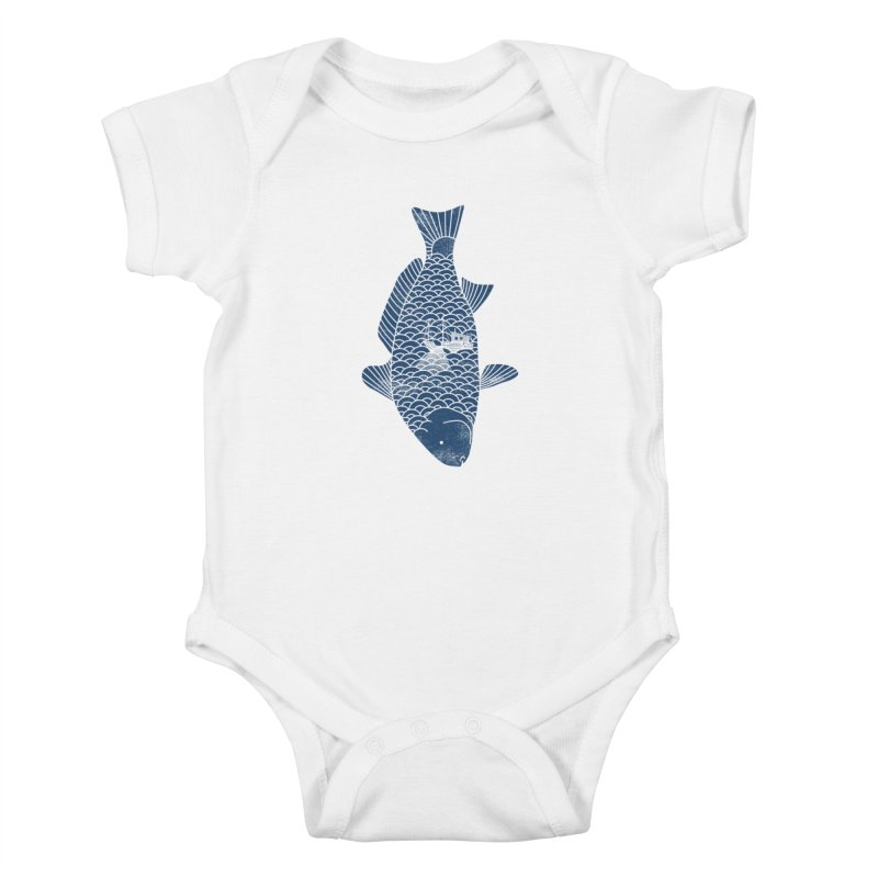 Fishing in a fish Kids Baby Bodysuit by ilovedoodle's Artist Shop