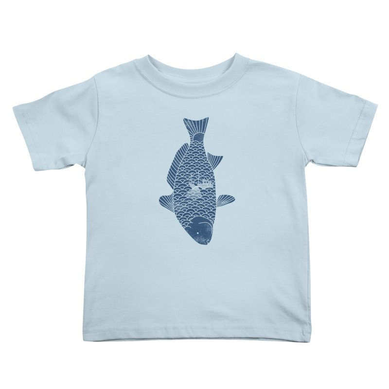 Fishing in a fish Kids Toddler T-Shirt by ilovedoodle's Artist Shop
