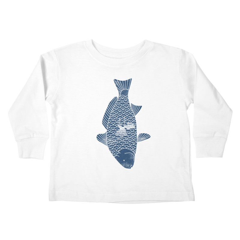 Fishing in a fish Kids Toddler Longsleeve T-Shirt by ilovedoodle's Artist Shop