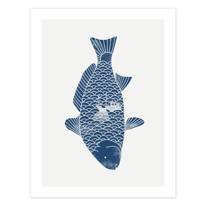 Fishing in a fish Home Fine Art Print by ilovedoodle's Artist Shop