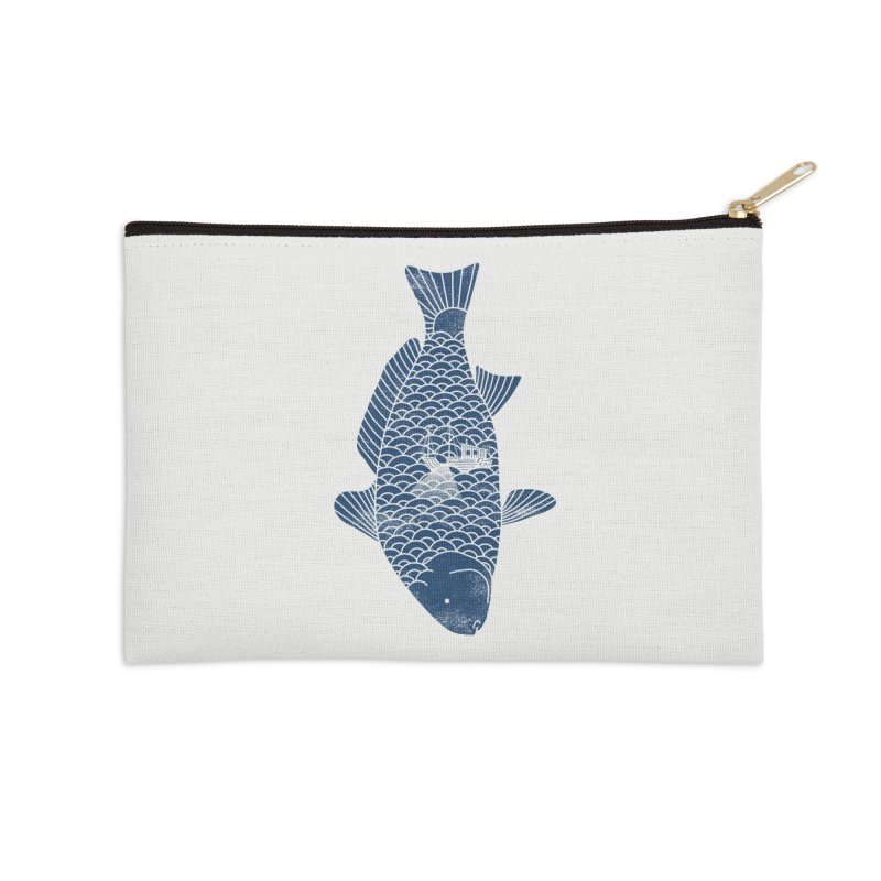 Fishing in a fish Accessories Zip Pouch by ilovedoodle's Artist Shop