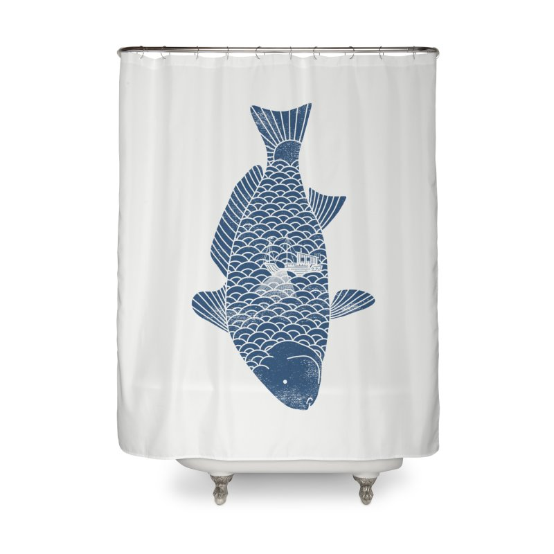 Fishing in a fish Home Shower Curtain by ilovedoodle's Artist Shop