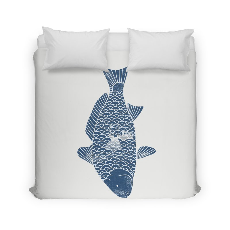 Fishing in a fish Home Duvet by ilovedoodle's Artist Shop