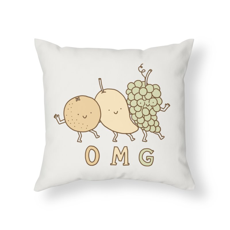 OMG Home Throw Pillow by ilovedoodle's Artist Shop