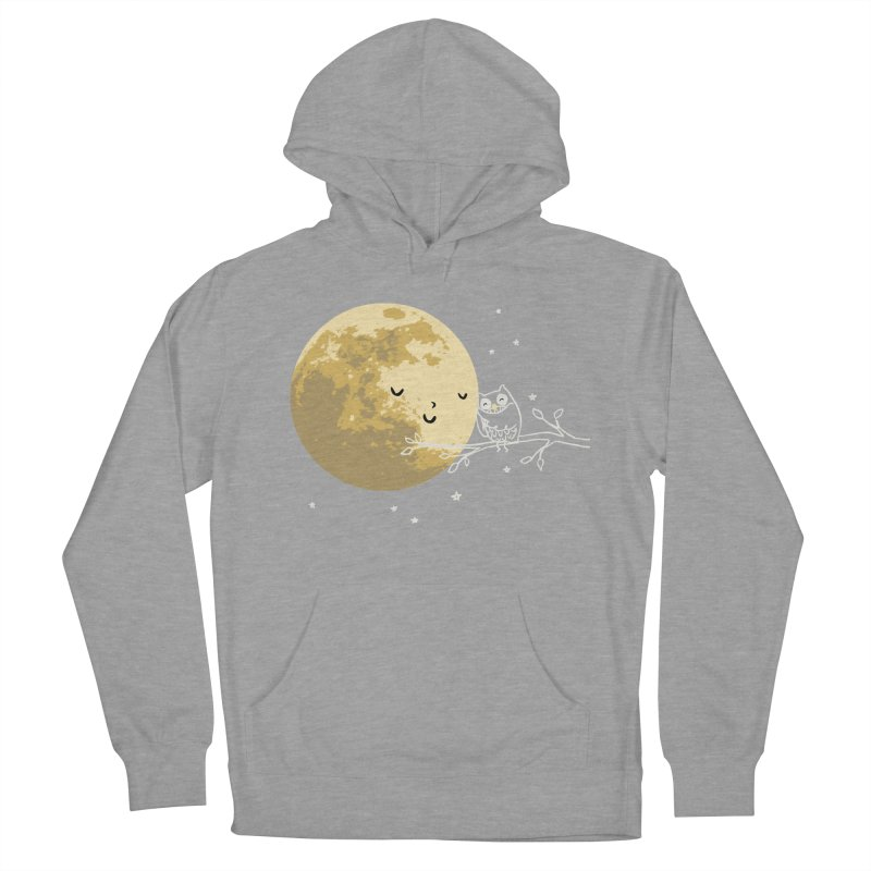 Owl and Moon Men's Pullover Hoody by ilovedoodle's Artist Shop