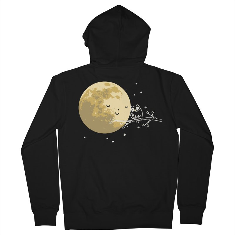 Owl and Moon Women's French Terry Zip-Up Hoody by ilovedoodle's Artist Shop