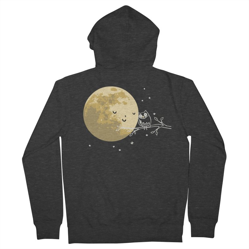 Owl and Moon Men's French Terry Zip-Up Hoody by ilovedoodle's Artist Shop