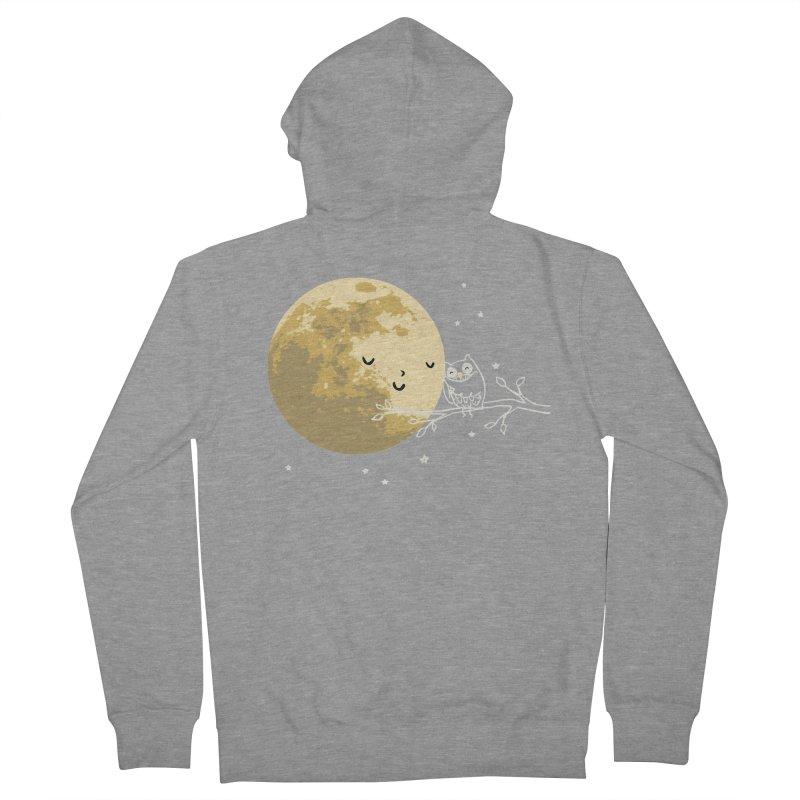 Owl and Moon Men's Zip-Up Hoody by ilovedoodle's Artist Shop