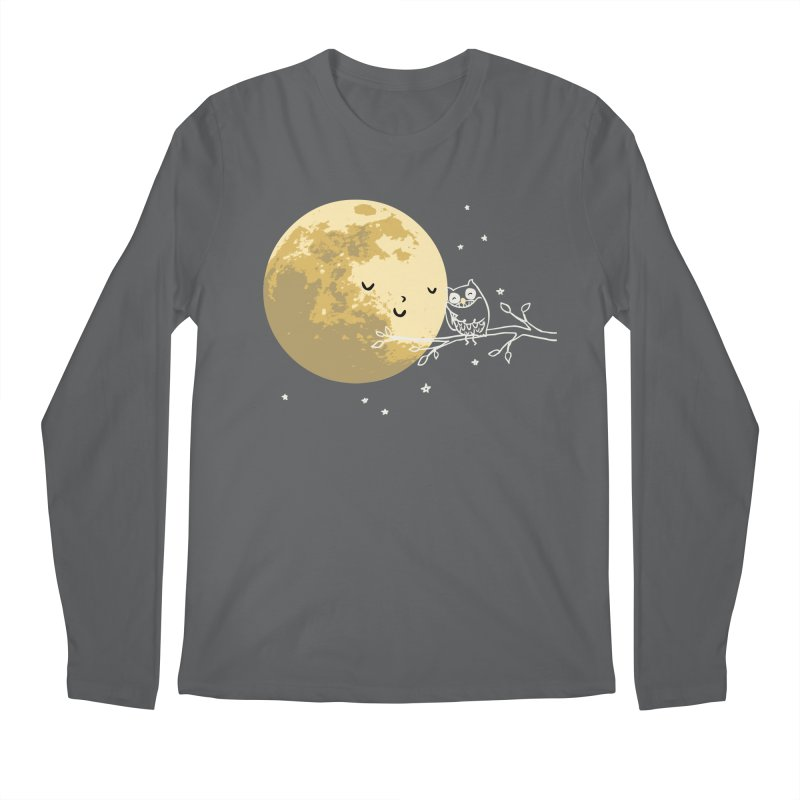 Owl and Moon Men's Regular Longsleeve T-Shirt by ilovedoodle's Artist Shop
