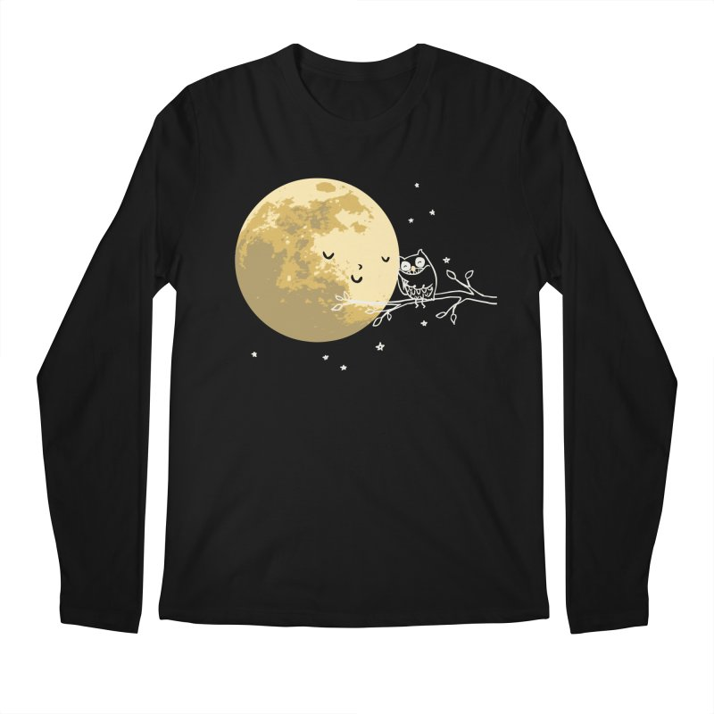 Owl and Moon Men's Longsleeve T-Shirt by ilovedoodle's Artist Shop