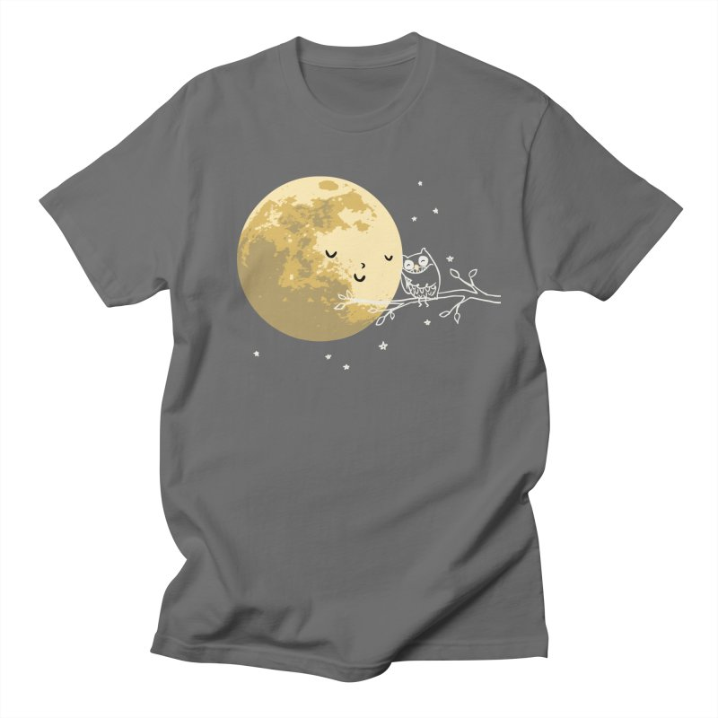 Owl and Moon Men's T-Shirt by ilovedoodle's Artist Shop