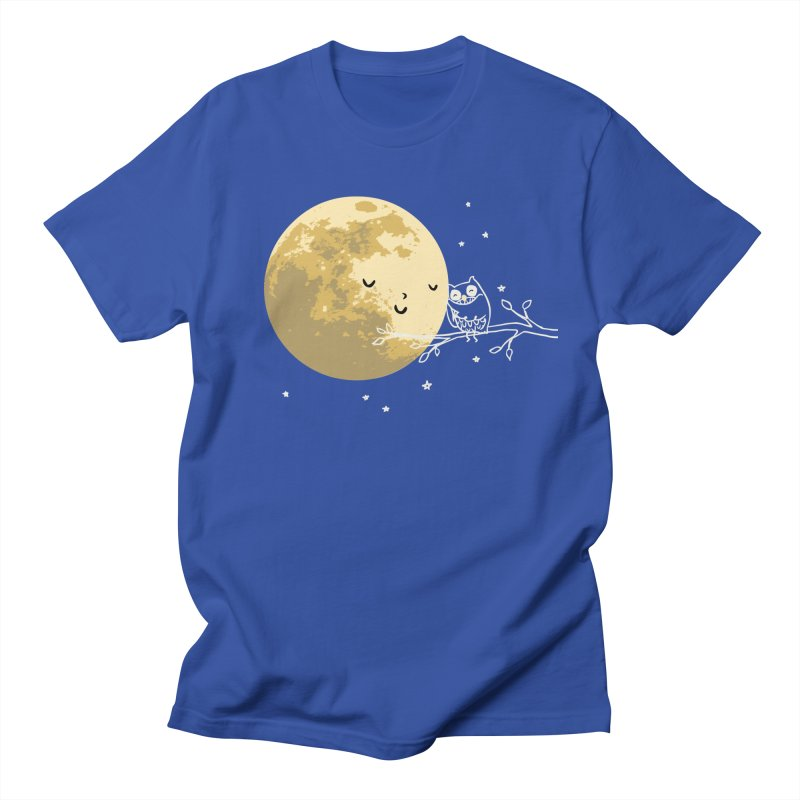 Owl and Moon Women's Regular Unisex T-Shirt by ilovedoodle's Artist Shop
