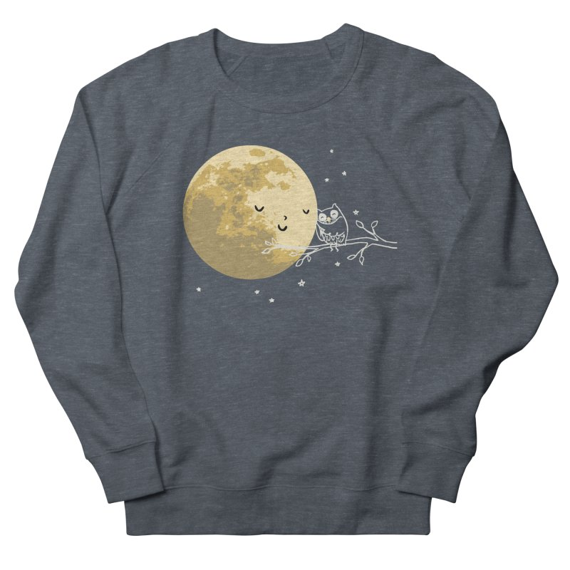 Owl and Moon Women's French Terry Sweatshirt by ilovedoodle's Artist Shop
