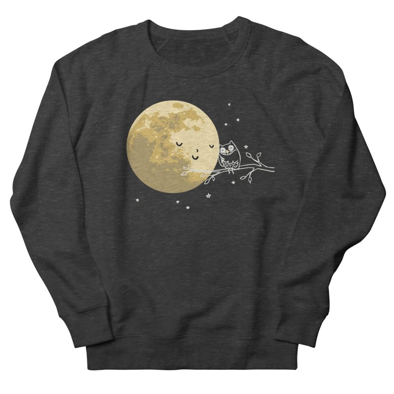 Owl and Moon Men's French Terry Sweatshirt by ilovedoodle's Artist Shop