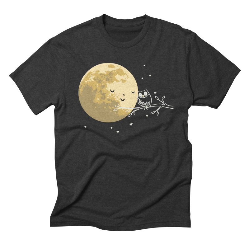 Owl and Moon Men's Triblend T-Shirt by ilovedoodle's Artist Shop
