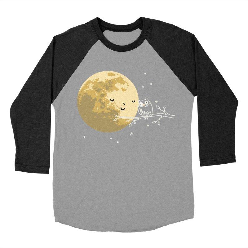 Owl and Moon Women's Baseball Triblend Longsleeve T-Shirt by ilovedoodle's Artist Shop