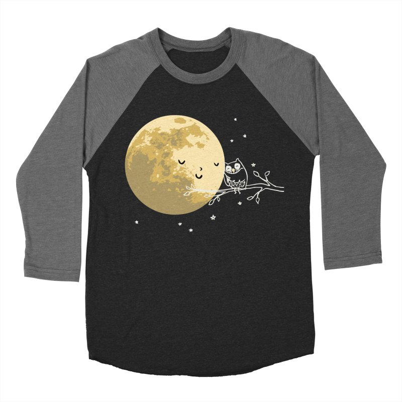 Owl and Moon Men's Baseball Triblend T-Shirt by ilovedoodle's Artist Shop