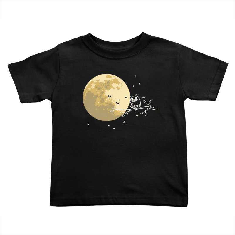 Owl and Moon Kids Toddler T-Shirt by ilovedoodle's Artist Shop