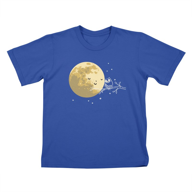Owl and Moon Kids T-Shirt by ilovedoodle's Artist Shop