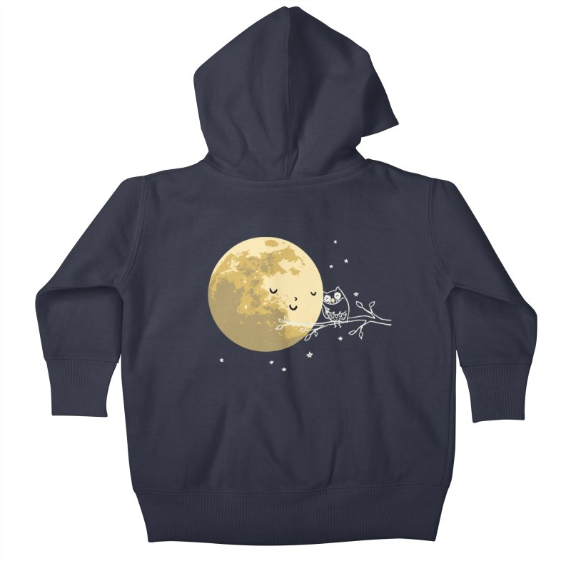 Owl and Moon Kids Baby Zip-Up Hoody by ilovedoodle's Artist Shop