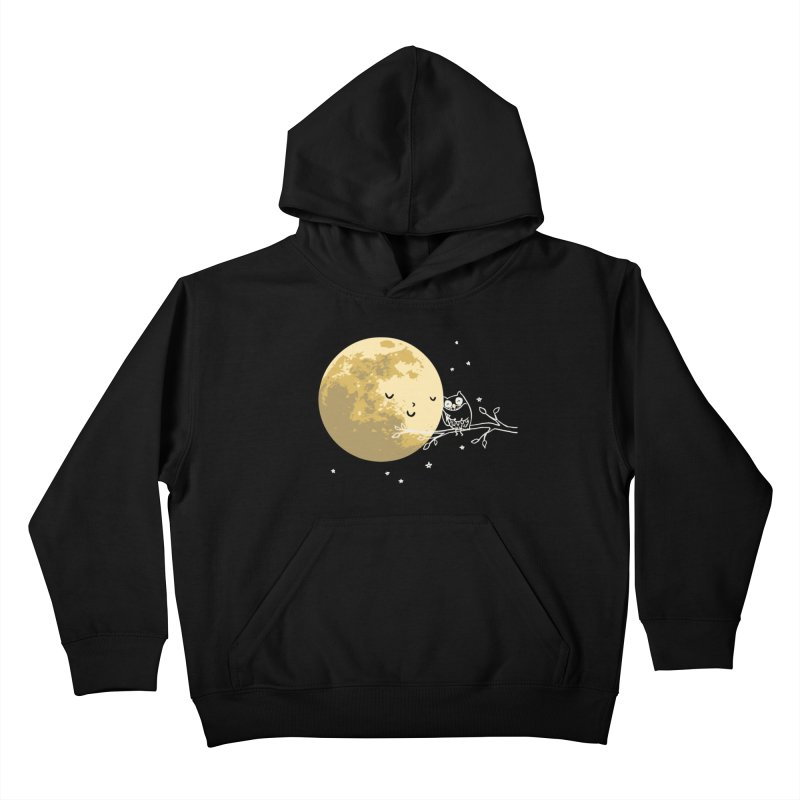 Owl and Moon Kids Pullover Hoody by ilovedoodle's Artist Shop