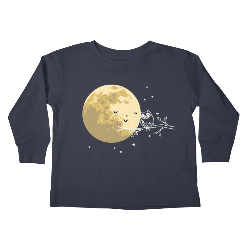 Owl and Moon Kids Toddler Longsleeve T-Shirt by ilovedoodle's Artist Shop