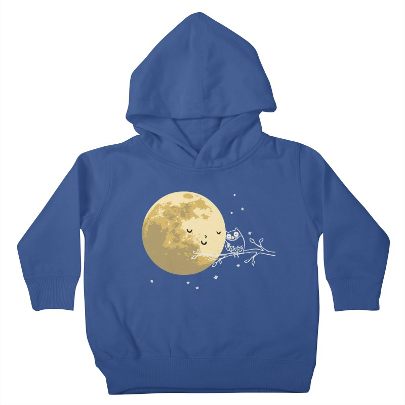 Owl and Moon Kids Toddler Pullover Hoody by ilovedoodle's Artist Shop