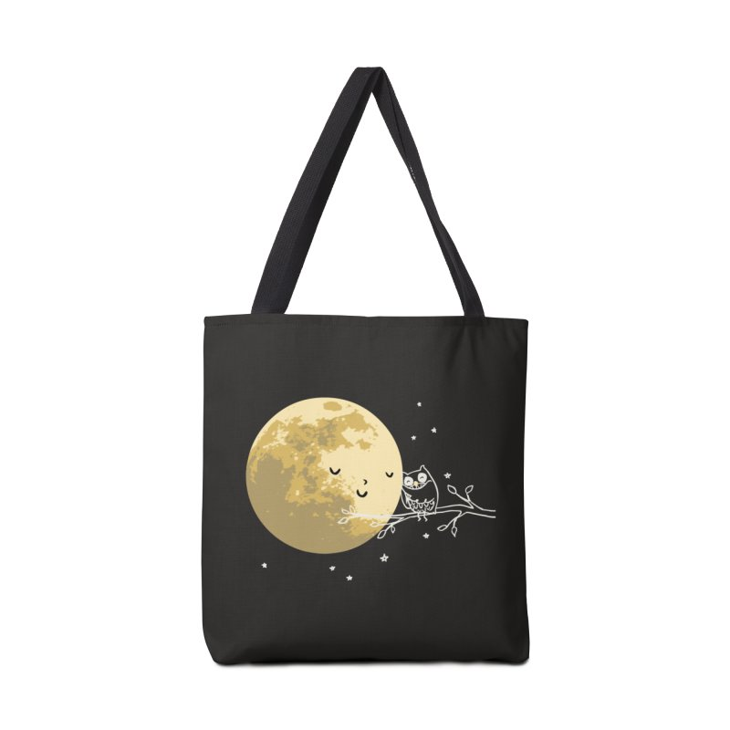 Owl and Moon Accessories Bag by ilovedoodle's Artist Shop