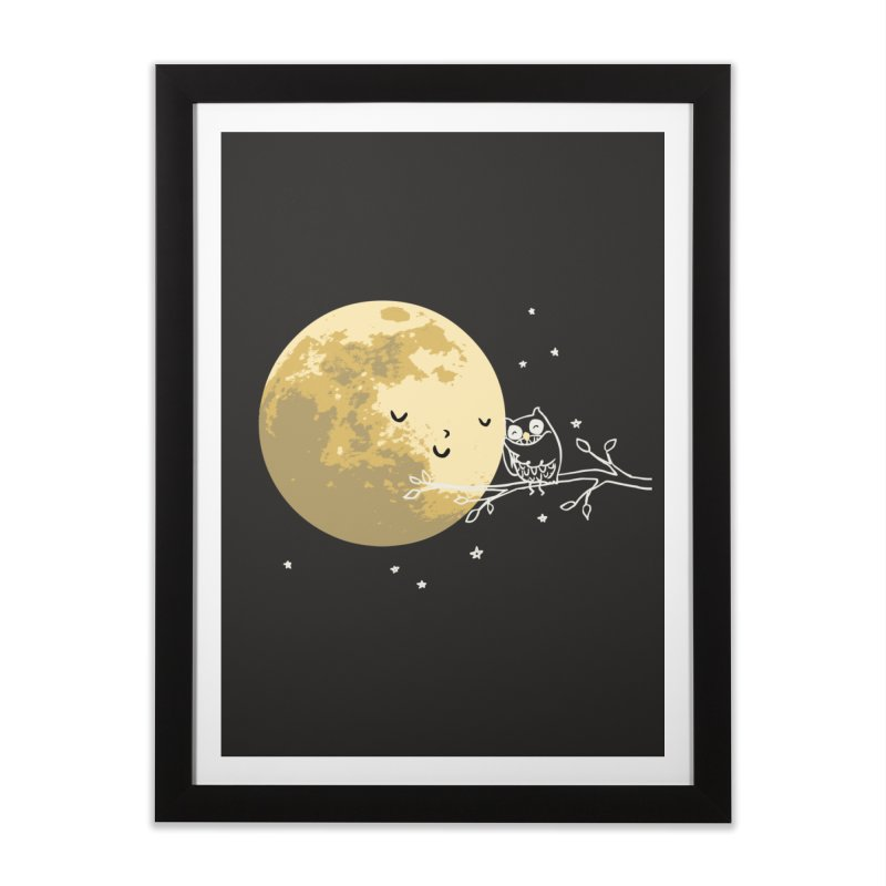 Owl and Moon Home Framed Fine Art Print by ilovedoodle's Artist Shop