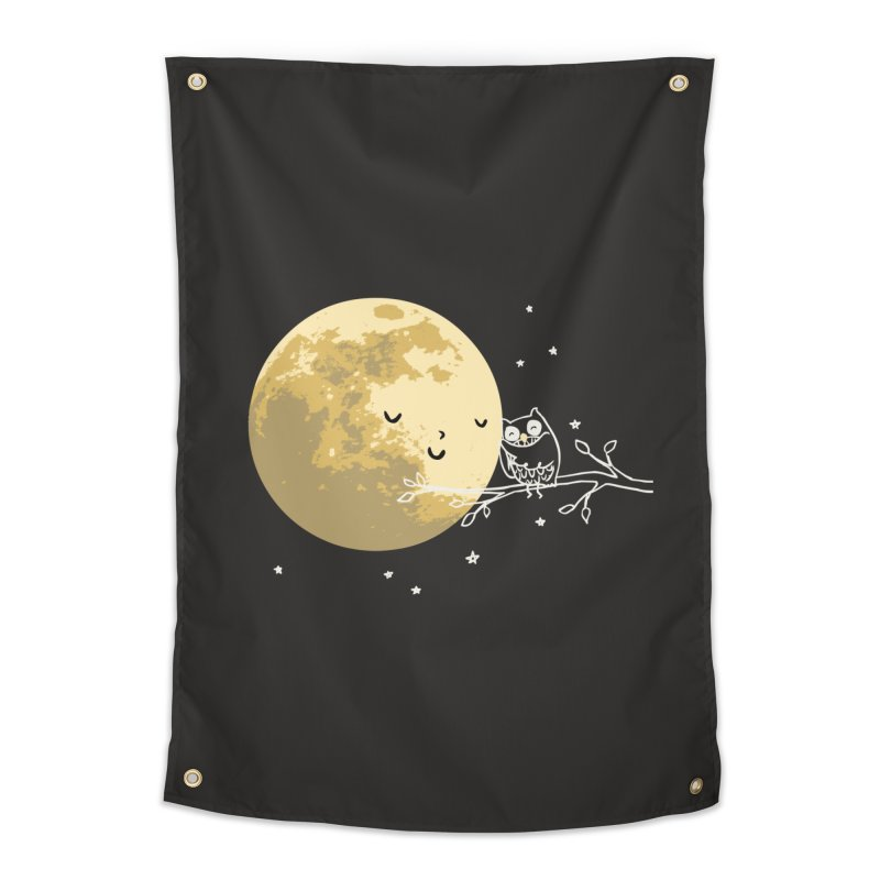 Owl and Moon Home Tapestry by ilovedoodle's Artist Shop