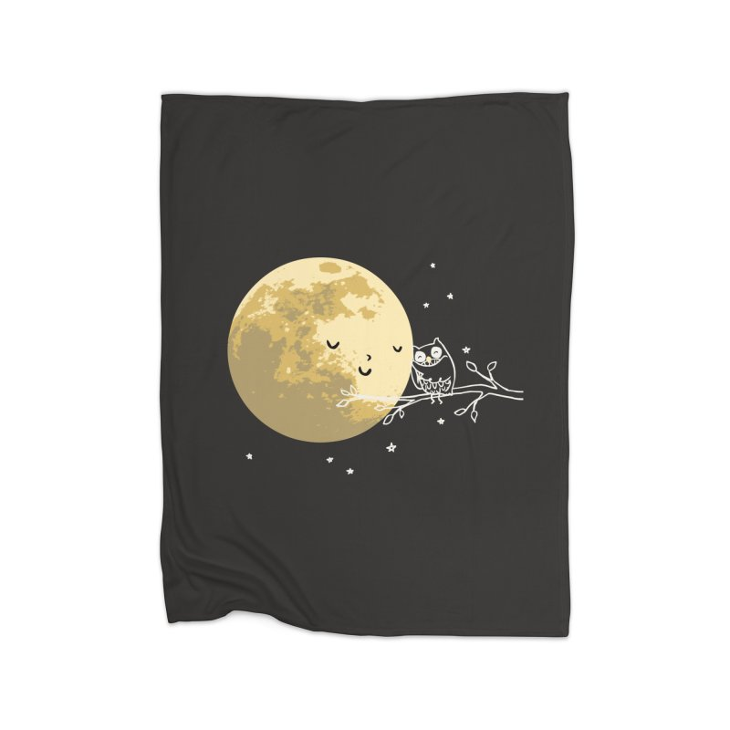 Owl and Moon Home Fleece Blanket by ilovedoodle's Artist Shop