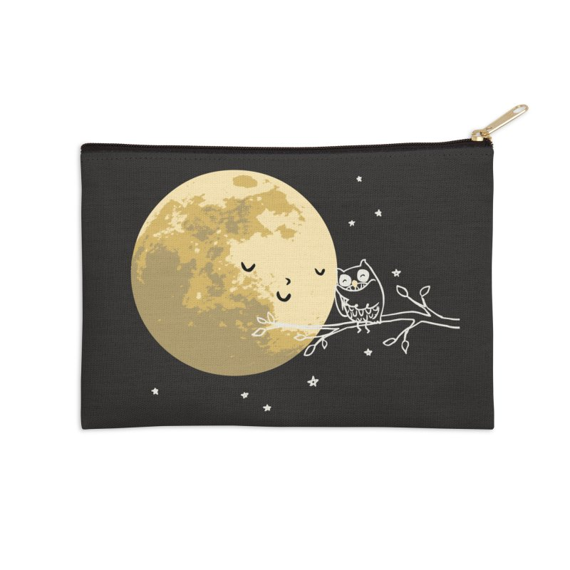 Owl and Moon Accessories Zip Pouch by ilovedoodle's Artist Shop