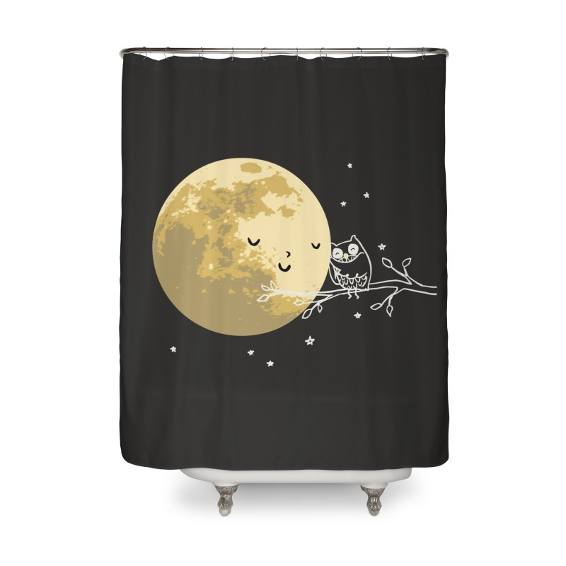 Owl and Moon Home Shower Curtain by ilovedoodle's Artist Shop
