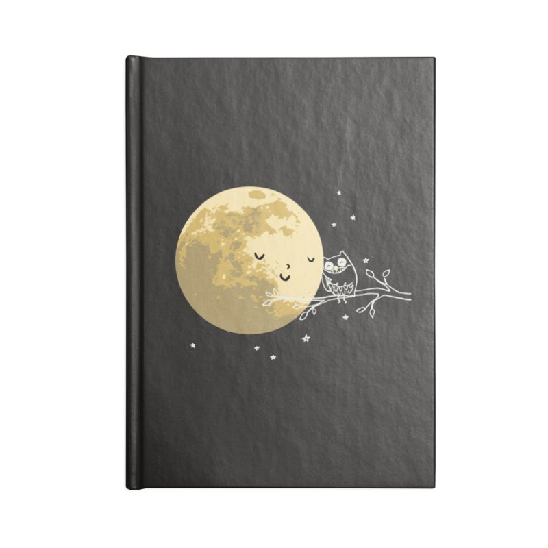 Owl and Moon Accessories Notebook by ilovedoodle's Artist Shop