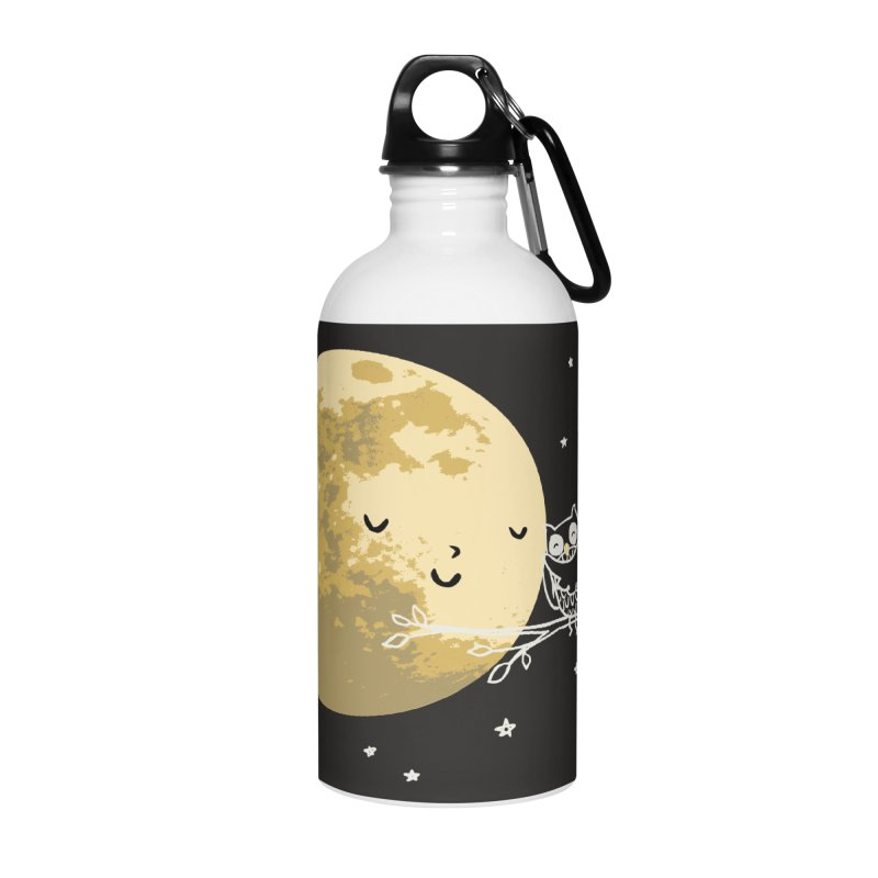 Owl and Moon Accessories Water Bottle by ilovedoodle's Artist Shop