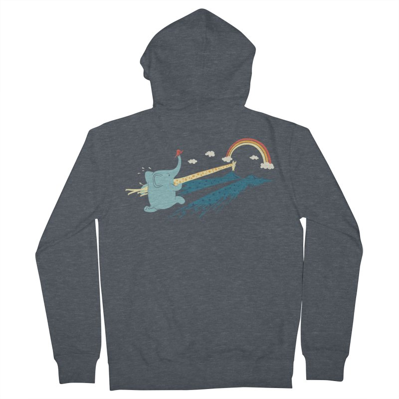 Over the rainbow Men's French Terry Zip-Up Hoody by ilovedoodle's Artist Shop