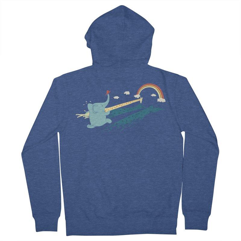 Over the rainbow Men's Zip-Up Hoody by ilovedoodle's Artist Shop